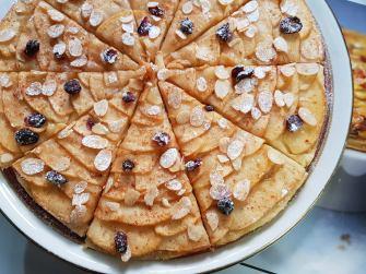 Tarte fine aux pommes et fruits secs